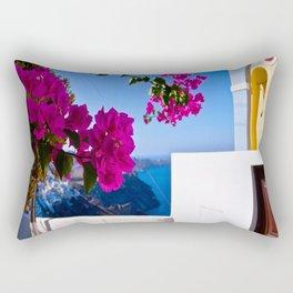 Santorini #greece Rectangular Pillow