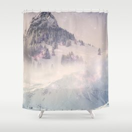 The World Was Ours - Dream snow stars Shower Curtain