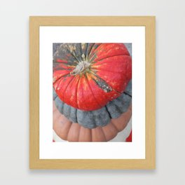 pumpkin pile Framed Art Print