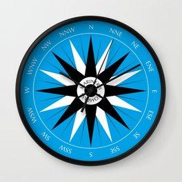 Mariner's Compass Wall Clock