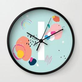 I Monogram Wall Clock