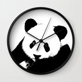 Giant Panda in Black & White Wall Clock