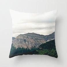 Mountain Green Throw Pillow