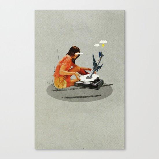 Blind, deaf too | Collage Canvas Print