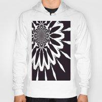 blankets Hoodies featuring Black & White Modern Flower by 2sweet4words Designs