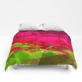 Rosas Moradas 1 Abstract Polygons 3 Comforters