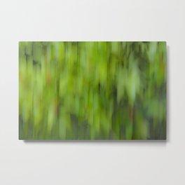 Sliding Paint Greens Metal Print