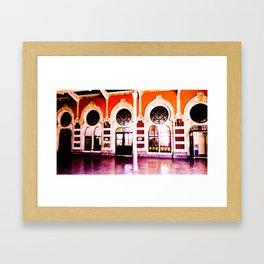 Beautiful station. Framed Art Print