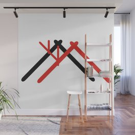 Norge hytte Wall Mural