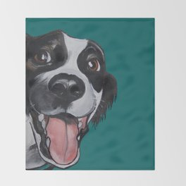 Maeby the border collie mix Throw Blanket