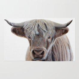 Highland Cow Acrylic Painting Rug