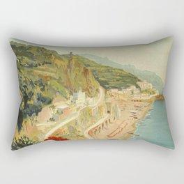 Vintage Travel Ad Amalfi Italy Rectangular Pillow