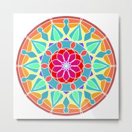 Soft colors mandala Metal Print