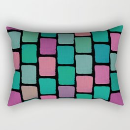 Colorful Blocks IV Rectangular Pillow