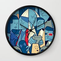 back to the future Wall Clocks featuring Back to the Future by Ale Giorgini