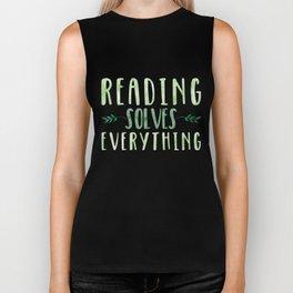 Reading Solves Everything (Green) Biker Tank