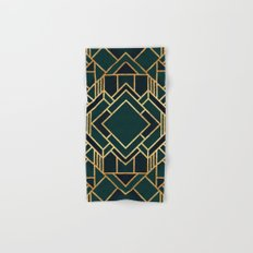 Art Deco 2 Hand & Bath Towel