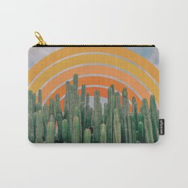 Cactus and Rainbow #1 Carry-All Pouch