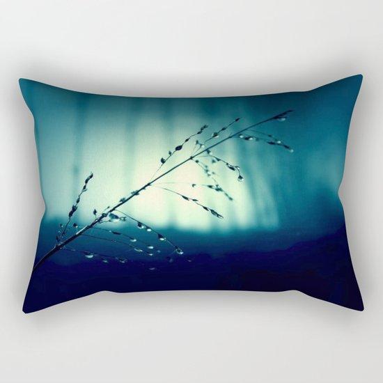 Blue Willow in the rain Rectangular Pillow