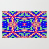 psychedelic Area & Throw Rugs featuring Psychedelic  by 2sweet4words Designs