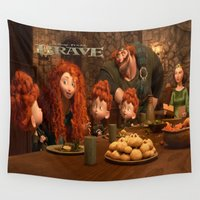 brave Wall Tapestries featuring Brave by store2u