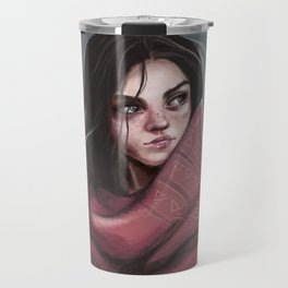 Wild Girl in the cold night Travel Mug