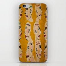 Human Thoughts iPhone & iPod Skin