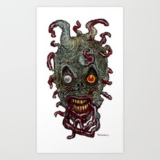 Heads of the Living Dead Zombies: Tentacle Zombie Art Print