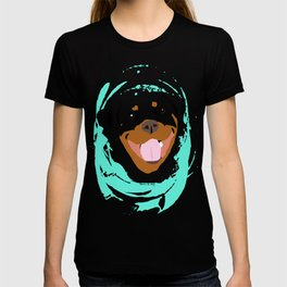 Rottweiler graphic on Mint T-shirt