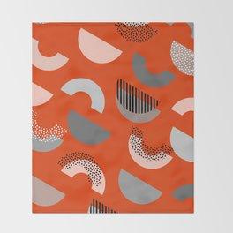 Half-circles Throw Blanket