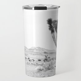 Vintage Desert Scape B&W // Cactus Nature Summer Sun Landscape Black and White Photography Travel Mug