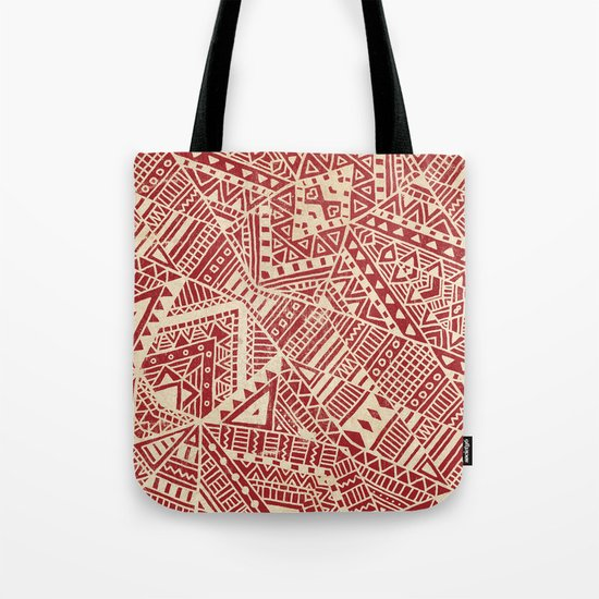 Tribal (red)  Tote Bag