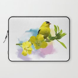 Digital Painting of  American Goldfinch Laptop Sleeve