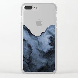 Watercolor Splash in Blue Clear iPhone Case