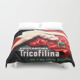 Vintage Brillantina Tricofilina Duvet Cover