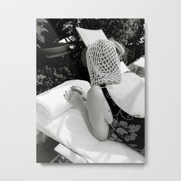 Pool Side Snoodie Metal Print