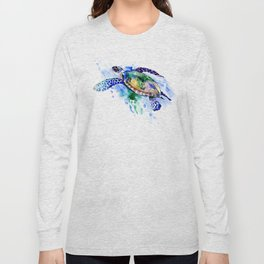 Swimming Sea Turtle Long Sleeve T-shirt