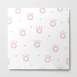 Baby Puppy Paws - Baby Pattern Metal Print