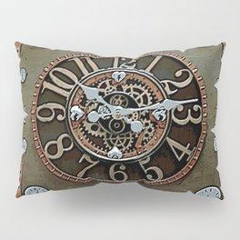 Steampunk Klokface Pillow Sham