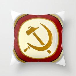 Russian Pin Badge Throw Pillow
