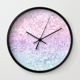 Unicorn Girls Glitter #1 (2019 Version) #shiny #pastel #decor #art #society6 Wall Clock