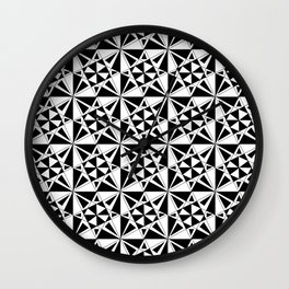 black and white symetric patterns 4- bw, mandala,geometric,rosace,harmony,star,symmetry Wall Clock