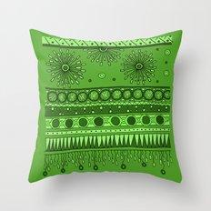 Yzor pattern 007 green Throw Pillow