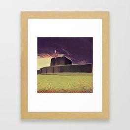 A Storm Over Carlisle Castle Framed Art Print