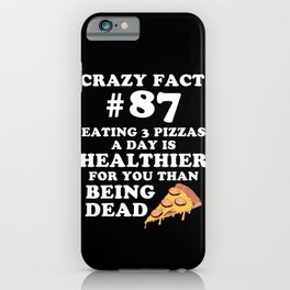 Pizza favorite food pizzeria cheese salami gift iPhone Case