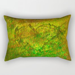 The Heart - Painting by Brian Vegas Rectangular Pillow