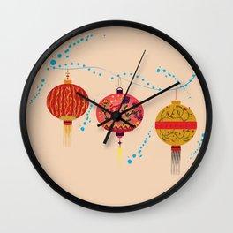 Lampions  Wall Clock