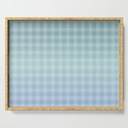 Checkered gingham stripes Serving Tray