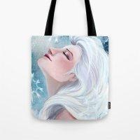 elsa Tote Bags featuring Elsa by Ines92