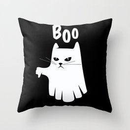 Ghostly Cat Best Gift Throw Pillow